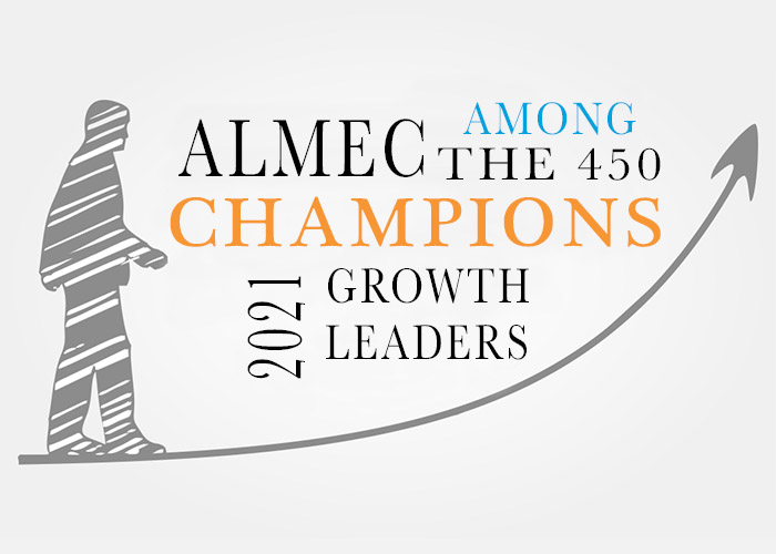 ALMEC AMONG THE 450 CHAMPIONS OF GROWTH LEADERS 2021